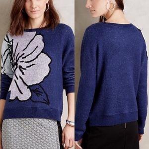 Anthropologie HWR Monogram Sweater